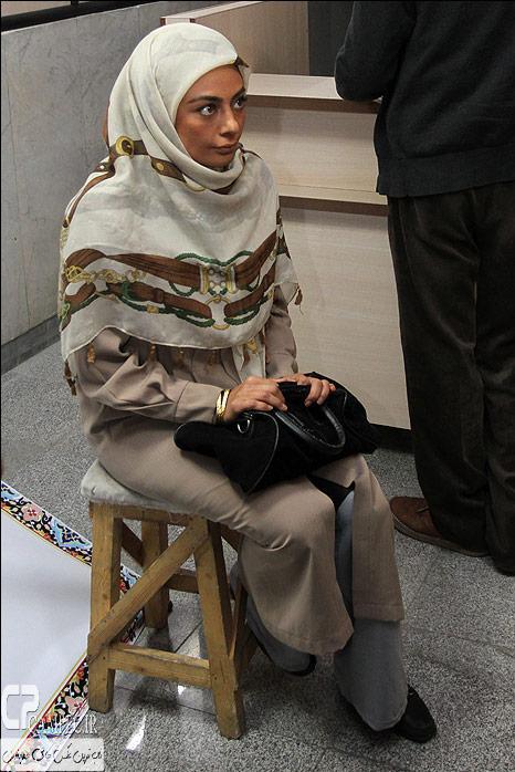 یکتا ناصر در پشت صحنه سریال جاده قدیم
