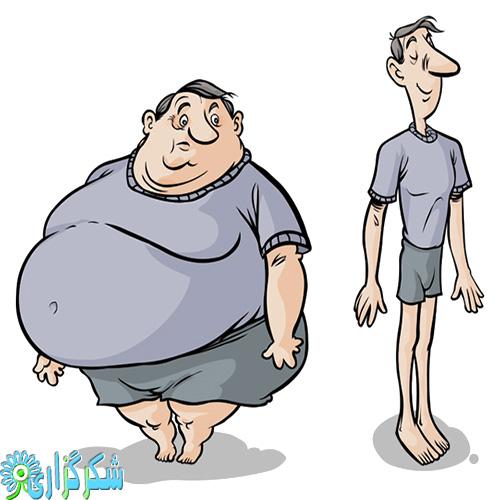چاقی-لاغری-عصبی-درمان-عکس-کلیپ-آرت