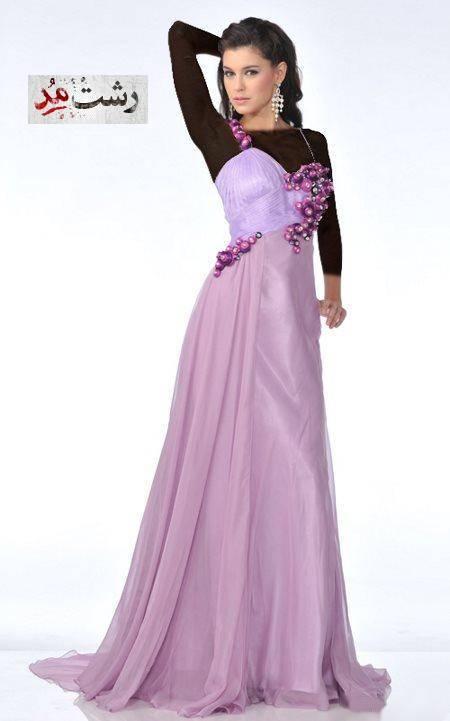 مدل لباس شب مجلسی بلند رشت مدل