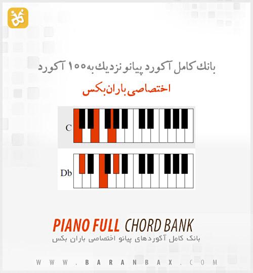 piano full chord bank دانلود بانک کامل آکورد پیانو