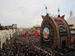 مراسم نخل برداری عاشورا در شهرستان بردسکن