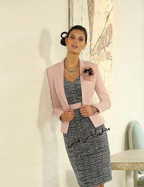 مدل لباس مجلسی بلند و کت دامن 2017