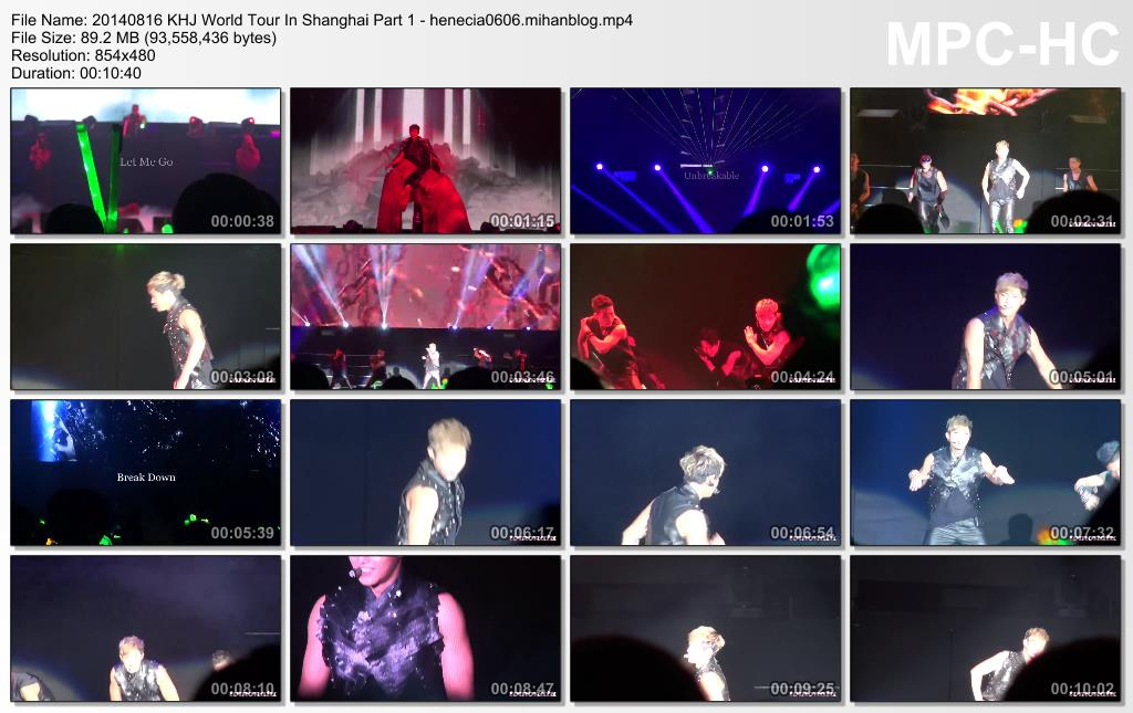 [Fancams] Kim Hyun Joong - 2014 World Tour Concert in Shanghai [14.08.16]