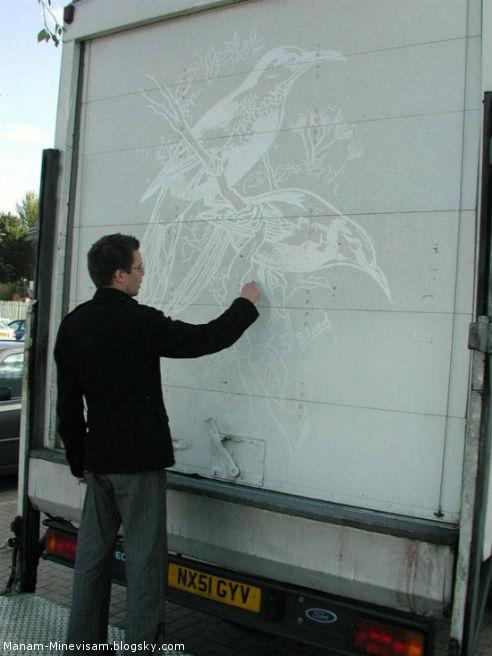 تصاویر هنری روی کامیون ها