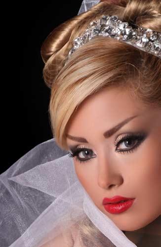 شنل آستین دار عروس جدیدترین مدل آرایش عروس به سبک خلیجی ، عربی ، ترکیه ای و ...