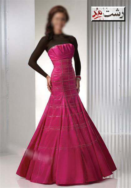 مدل لباس مجلسی رنگی زنانه طرح 2014