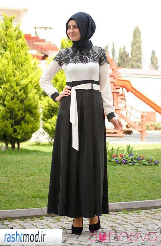 مدل لباس مجلسی دخترانه زنانه با حجاب پوشیده