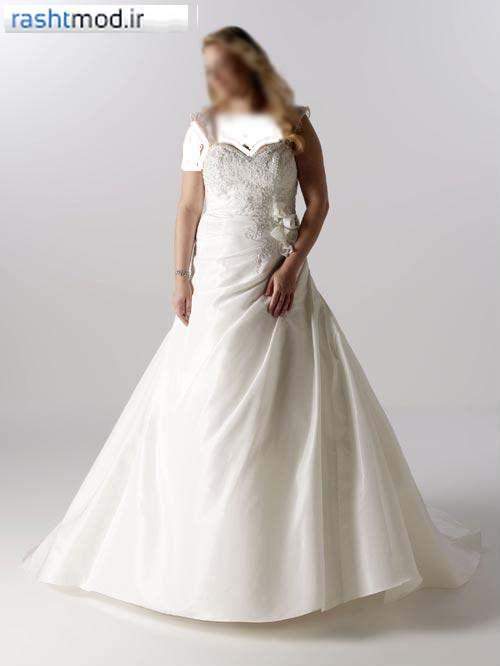 مدل لباس عروس چاق