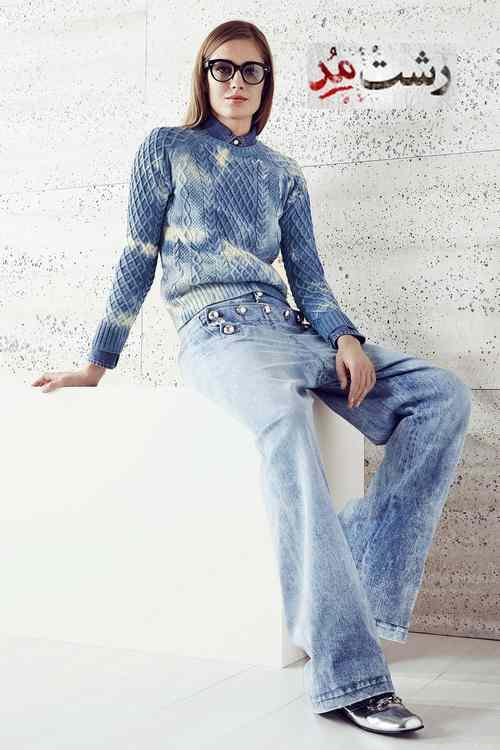 مدل لباس بافتنی زمستانی زنانه لاغر