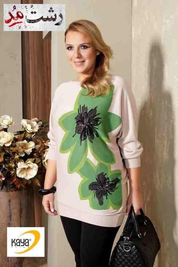 مدل لباس بافتنی زمستانی زنانه چاق