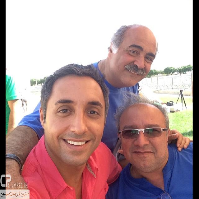 امیر حسین رستمی،ساعد هدایتی و حسین سهیلی زاده در پشت صحنه سریال آخرین بازی