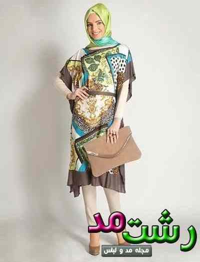 مدل مانتو تابستانی خنک رنگی برای دختران لاغر
