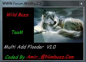 WildBuzz TeaM Add Flooder Multi Target V1.0 +(Free Id) Saa