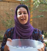 کلیپ چالش سطل آب یخ فاطمه گودرزی