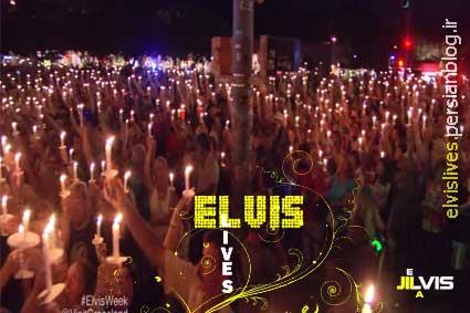 elvis presley candellight vigil 2014
