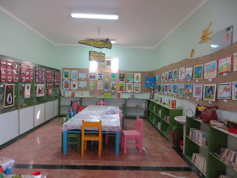 تصاویر / نمایشگاه آثار  اعضاء کانون پرورش فکری مرکز دیّر