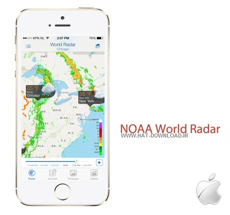 NOAA World Radar 2.0.1 نرم افزار هواشناسی NOAA World Radar 2.0.1 – آیفون ، آیپد و آیپاد