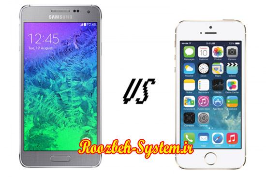 بررسی و مقایسهی کامل گوشی Samsung Galaxy Alpha و iPhone 5s