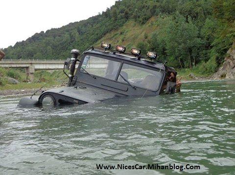 جیپ آفرود قایق