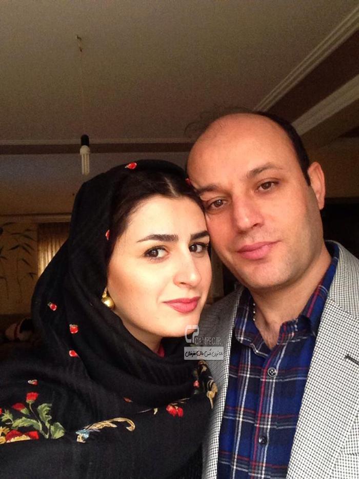 هدی ناصح و همسرش