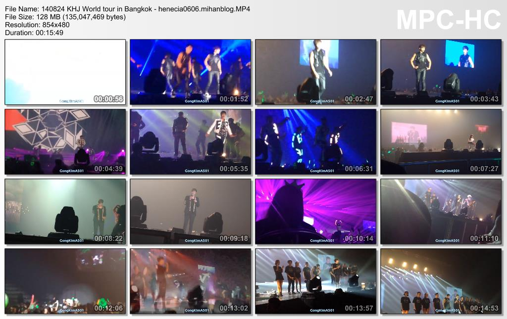 [Fancams] Kim Hyun Joong - 2014 World Tour Concert in Bangkok,Thailand [14.08.24]