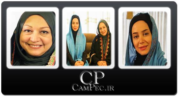 تصاویر جدید الناز حبیبی و مریم سعادت در پشت صحنه برنامه صبح خلیج فارس