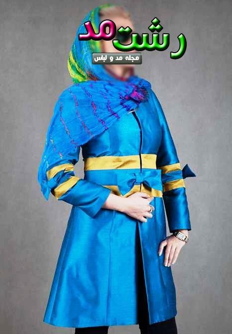 مدل مانتو ایرانی رنگ شاد