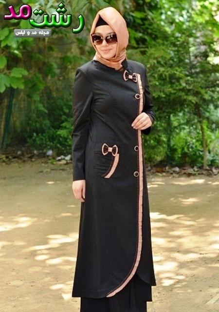 مدل مانتو بلند شید دختران باحجاب ایرانی