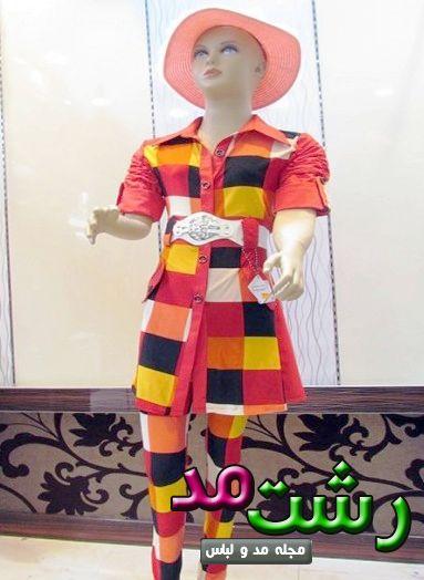 جدیدترین مدل مانتو رنگ شاد دخترانه بچه گانه 1394