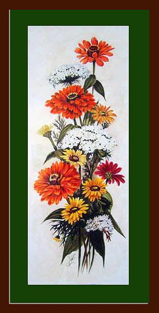 فروش تابلو نقاشی گل های داوودی
