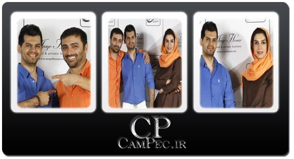 عکس های امین زندگانی و همسرش الیکا عبدالرزاقی در کنسرت شهاب رمضان
