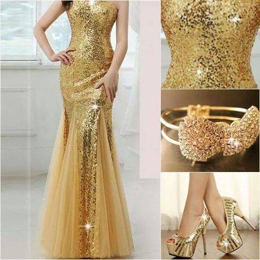 لباس طلایی