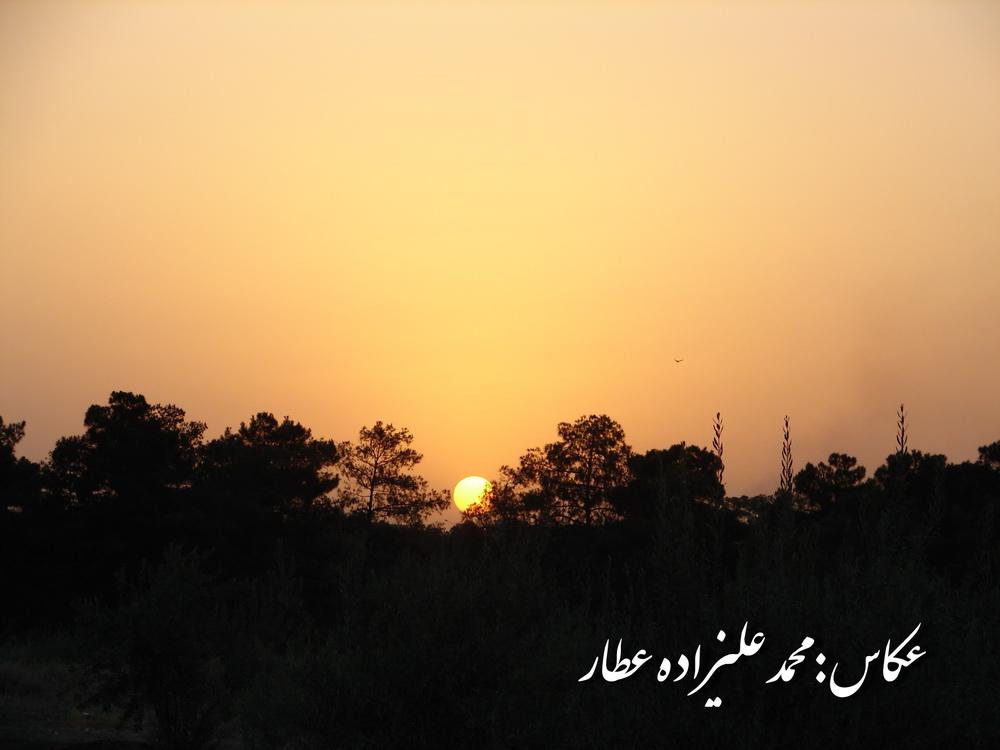 غروب، عکس از محمد علیزاده عطار