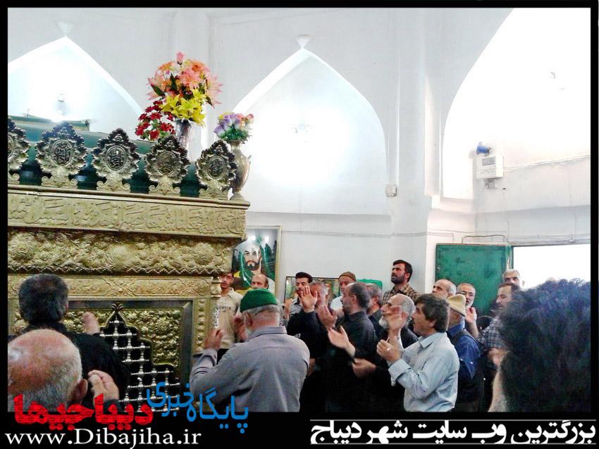 آستان مقدس امامزاده محمد دیباج (ع) غبارروبی شد