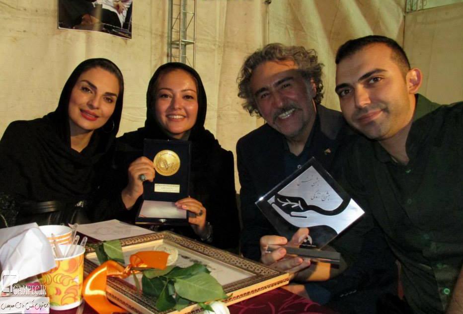 رضا توکلی،رزیتا غفاری و الیزابت امینی در جشن نفس