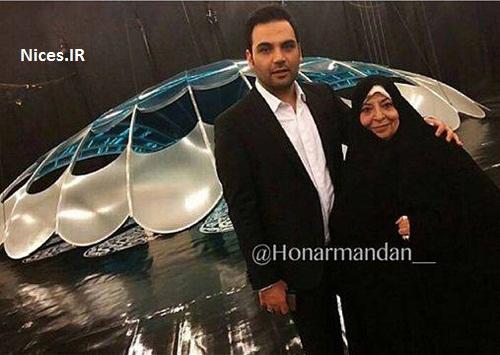 احسان علیخانی و مادرش