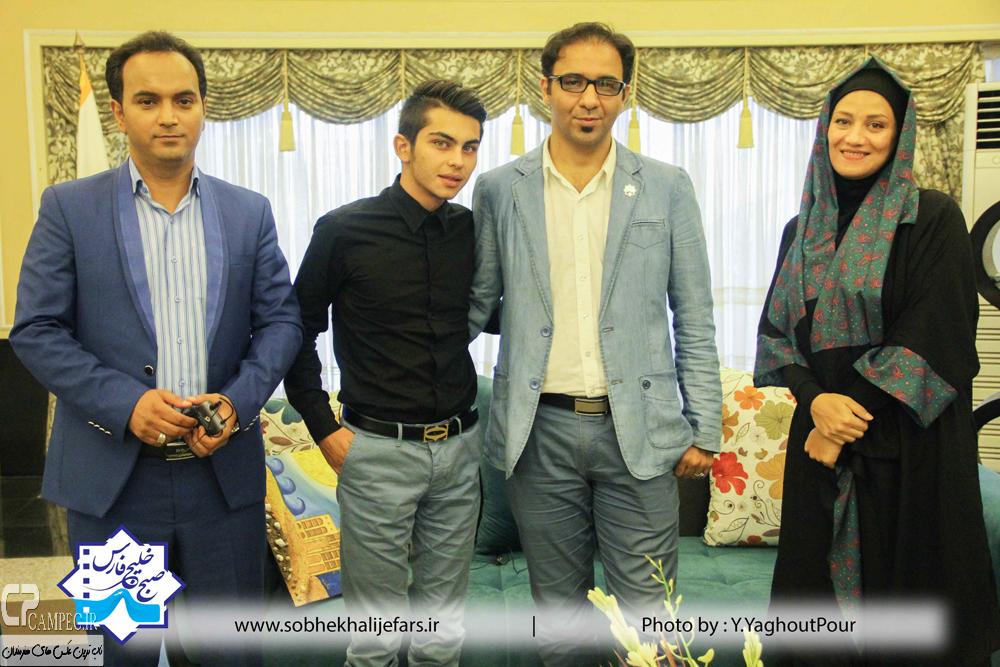 شبنم مقدمی و ارسلان قاسمی در پشت صحنه برنامه صبح خلیج فارس