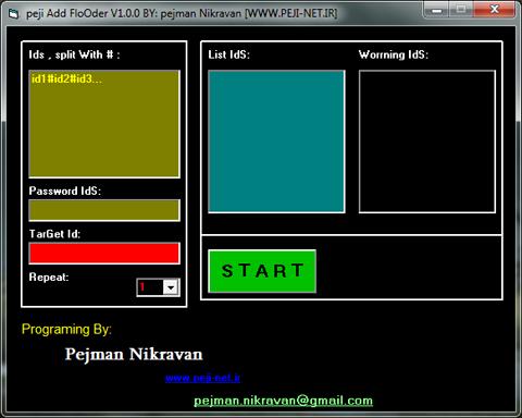 flooder - Source Add Flooder For VB6 by pejman nikravan Peji_net_ir