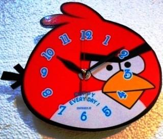 فروش ساعت دیواری پرندگان خشمگین رنگ قرمز