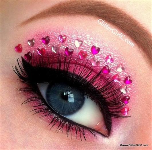 دانلود مدل های آرایش چشم فانتزی دخترونه 2014