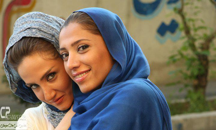 تیما پور رحمانی و ماریه ماشاالهی در پشت صحنه سریال آسمان همیشه ابری نیست