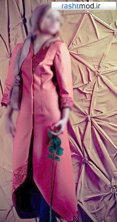 مدل مانتو مجلسی طرح دار با کلاس زنانه دخترانه