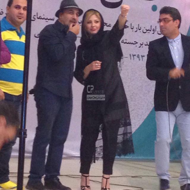 نیوشا ضیغمی و رضا عطاران