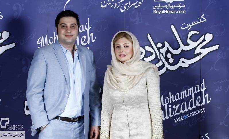 نیوشا ضیغمی و همسرش در کنسرت محمد علیزاده