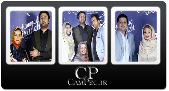 عکس های بازیگران و هنرمندان در کنسرت محمد علیزاده