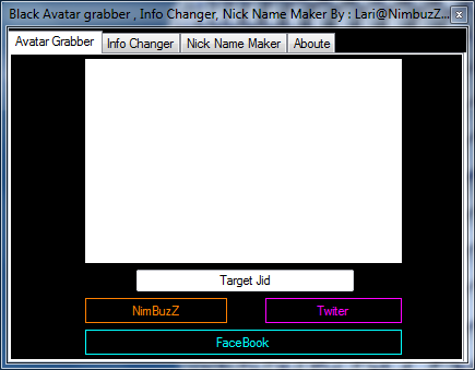 soft - Black Soft Manager (Avatar Grabber,Info Changer,Nick Name Maker) + Source C# By: Lari@NimBuzZ.CoM M1