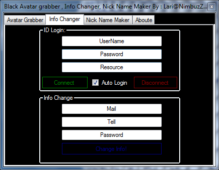 soft - Black Soft Manager (Avatar Grabber,Info Changer,Nick Name Maker) + Source C# By: Lari@NimBuzZ.CoM M2