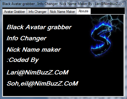 soft - Black Soft Manager (Avatar Grabber,Info Changer,Nick Name Maker) + Source C# By: Lari@NimBuzZ.CoM M5
