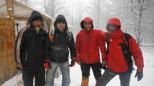 جنگل امل منطقه کلرد زمستان 92