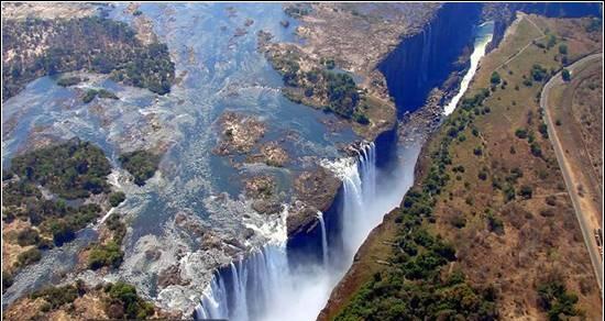 تصاویر زیبا از ابشار ویکتوریا در کشور زامبیا